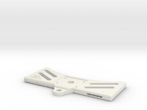 Main Plate - Dji Mavic Tablet Holder Adaptor in White Strong & Flexible
