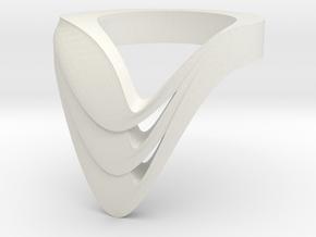 VATA TRI BOLD monochrome + color in White Natural Versatile Plastic