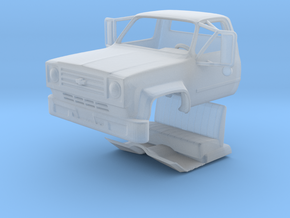 1/87 Chevy C65 Truck cab with Interior in Smooth Fine Detail Plastic