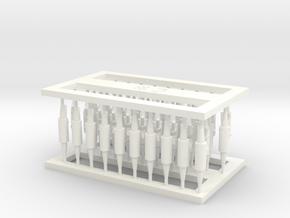 MOF Connector03 (40) in White Processed Versatile Plastic