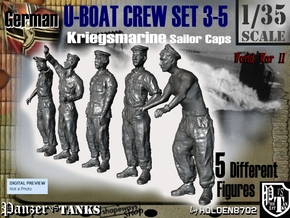 1-35 German U-Boot Crew Set3-5 in Frosted Ultra Detail