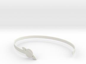 Saturnus Bracelet in White Natural Versatile Plastic