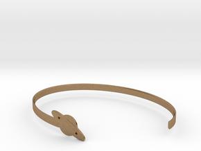 Saturnus Bracelet in Natural Brass