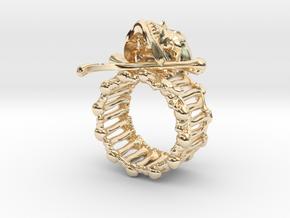 Skull ring in 14K Yellow Gold