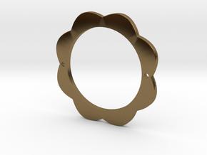FLOWER POWER Pendant for Necklace or Bracelet in Polished Bronze: Medium