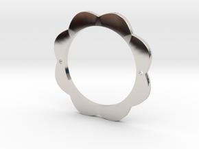 FLOWER POWER Pendant for Necklace or Bracelet in Rhodium Plated Brass: Medium