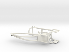 Custom bike frame in White Strong & Flexible