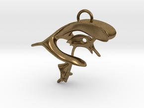 Brain Ventricular System -  Pendant  in Natural Bronze