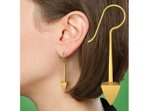 Earrings - Tribal Arrow in 18k Gold Plated Brass