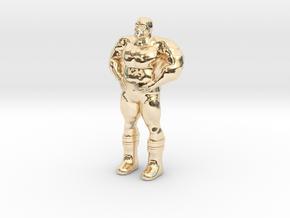 Thanoseid custom Heroclix in 14k Gold Plated Brass