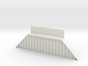 N Bridge Abutment Sheet Piling Sloped (H55 W in White Natural Versatile Plastic