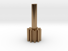 Cylindrical gear Mn1 Z10 Alfa20 Beta0 B10 Single H in Natural Brass