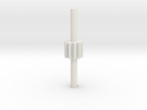 Cylindrical gear Mn=1 Z=10 - Alfa=20° Beta=0° b=10 in White Natural Versatile Plastic