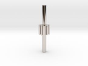 Cylindrical gear Mn=1 Z=10 - Alfa=20° Beta=0° b=10 in Rhodium Plated Brass
