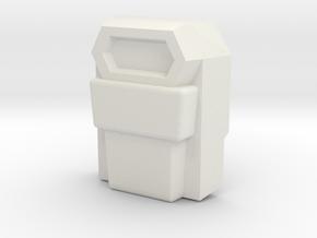 Mainframe, Leader Face (Titans Return) in White Natural Versatile Plastic