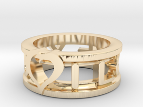I Love You Ring in 14k Gold Plated Brass
