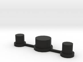 NLPWM 1.2 Buttons Only in Black Strong & Flexible