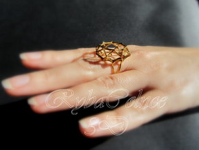 Ring  size 6 US (16.5 mm) in 14k Gold Plated Brass