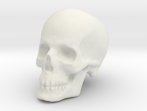 Skull Bead in White Natural Versatile Plastic