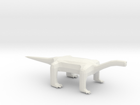 Oneye Long Neck Alien in White Natural Versatile Plastic: Extra Small