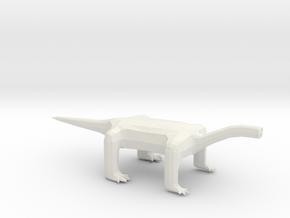 Oneye Long Neck Alien in White Natural Versatile Plastic: Extra Small