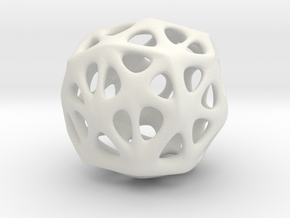 Organic Sphere in White Natural Versatile Plastic