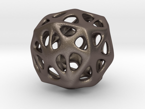 Organic Sphere in Polished Bronzed Silver Steel