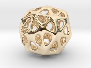 Organic Sphere in 14K Yellow Gold