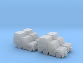 1:200 4x Volk HFZ30N Baggage Tractor in Smooth Fine Detail Plastic