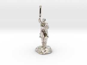 Human Cleric Zealot Of Pelor with Mace in Platinum