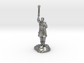 Human Cleric Zealot Of Pelor with Mace in Raw Silver
