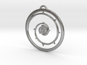 Steven Universe Shield Pendant version 4 in Natural Silver