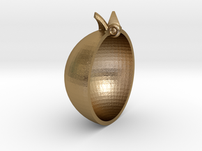 Pomegranate Pendant in Polished Gold Steel