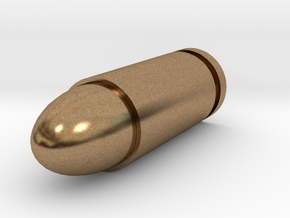2.7mm Bullet in Natural Brass
