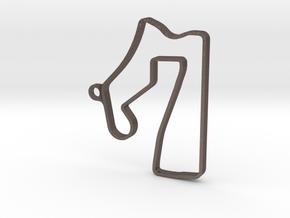 ROAD AMERICA Pendant in Polished Bronzed Silver Steel