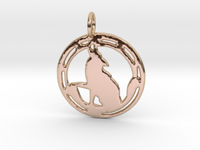 'Wild One' pendant in 14k Rose Gold Plated Brass