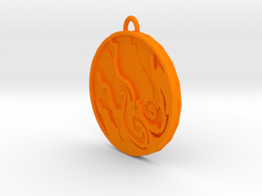 Okami Sun Pendant in Orange Strong & Flexible Polished