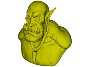 1/9 scale Orc daemonic creature bust B in Smooth Fine Detail Plastic