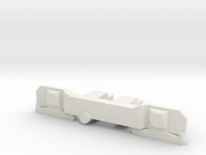 Cover bogie Johannesburg Streamliner 4mm in White Strong & Flexible