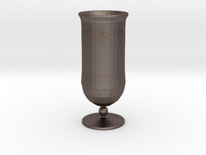 Goblet-style Vase in Polished Bronzed Silver Steel