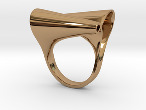 Ring ottoconico liscio in Polished Brass: 10 / 61.5