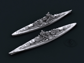 1/1800 KM BB Tirpitz [1944] in White Natural Versatile Plastic