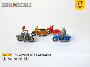 4x Simson KR51 Schwalbe (TT 1:120) in Frosted Ultra Detail