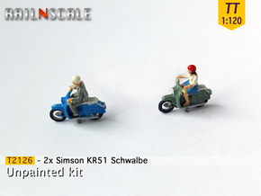 2x Simson KR51 Schwalbe (TT1:120) in Frosted Ultra Detail