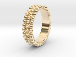 Ring with ball in 14K Yellow Gold