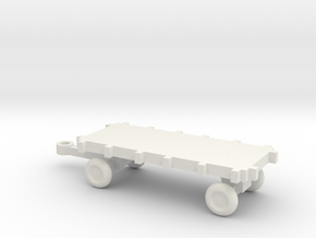 1/72 Scale Bomb Cart in White Natural Versatile Plastic