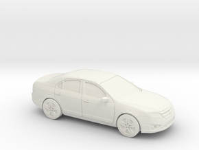 1/87 2009-12 Ford Fusion SEL in White Natural Versatile Plastic