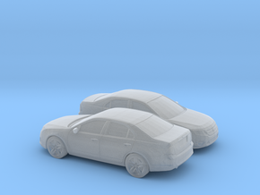 1/160 2X 2009-12 Ford Fusion SEL in Smooth Fine Detail Plastic