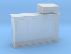 EP42 Signalmans cabinet and writing desk in Frosted Ultra Detail