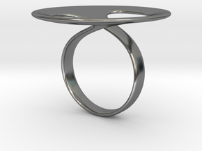 Ring tondo in Polished Silver: 5 / 49